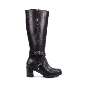 UGG® Lana Black Leather Boot