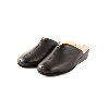 CRB Italian Leather Slippers Black