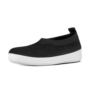FitFlop™ Uberknit Slip-on Ballerina Black