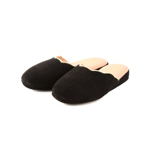 CRB Italian Leather Slippers Black Suede