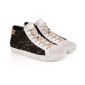 AIR & GRACE Alto Black Gold High Top Trainers