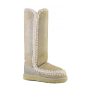 MOU Tall Eskimo Boot Stone Metallic