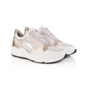 AIR & GRACE Cosmic White & Silver Trainers