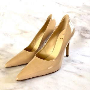HOGL Nude Patent Leather Court Shoe