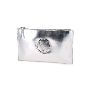 Valentino Silver Clutch - Pepper