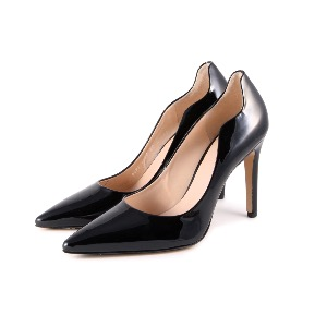 HOGL Black Patent Leather Court Shoes