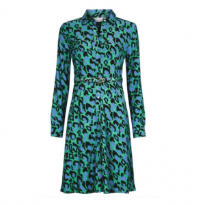 Fabienne Chapot Hayley Dress Jade Green Summer Night Leopard