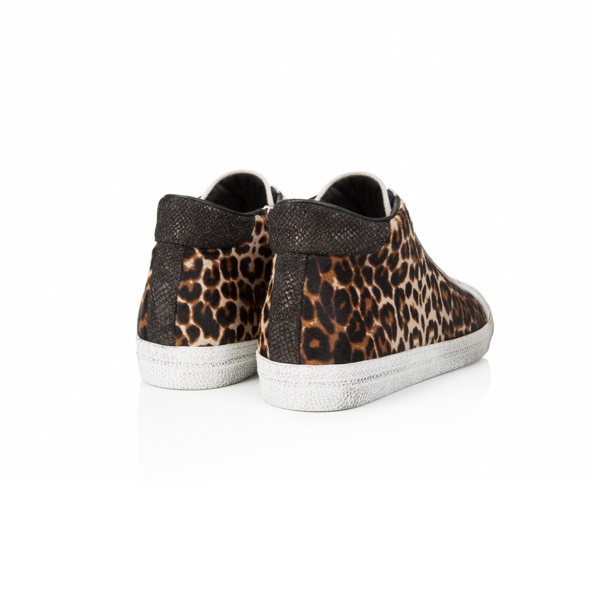 3c4c430247e8 ... AIR & GRACE Alton Leopard Print Leather High Top Trainer ...