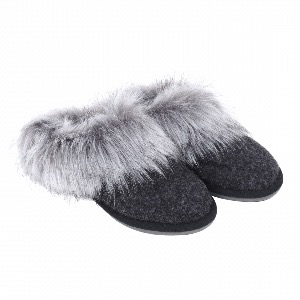 Helen Moore Faux Fur Mule Slipper