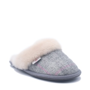 Bedroom Athletics Harris Tweed Slipper Kate Grey