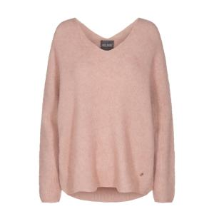 MOS MOSH Thora V-neck Knit Peach Beige