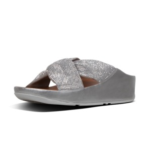 FITFLOP Twiss Crystal Slide Sandal Silver