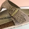 BIRKENSTOCK Gizeh Washed Metallic Rose Gold Sandal
