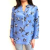 MERCY DELTA Stanford Leopard Stars Sea Blouse