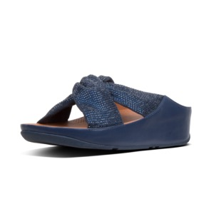 FITFLOP X SALE Twist Crystal Slide Midnight Navy