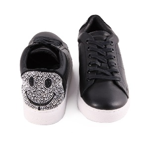 Lola Cruz Trainers Black Pewter