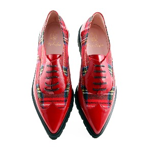 Pretty Ballerinas Red Check Lena