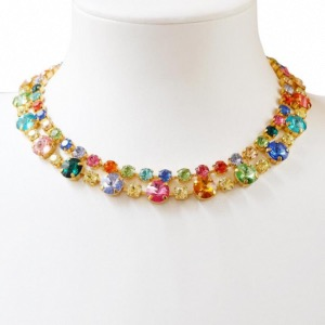 CAROLINE SVEDBOM Pomona Necklace Rainbow Crystals