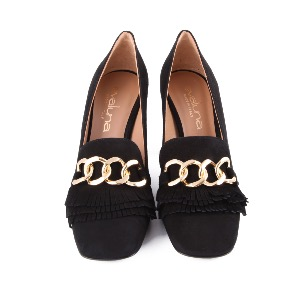 Evaluna High Heeled Loafer Black