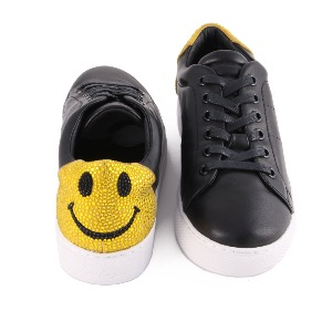 Lola Cruz Trainers Black Yellow