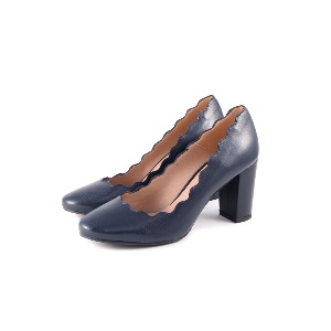 The SHOE GALLERY Marian Navy Heeled Pump