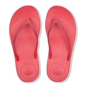FITFLOP Iqushion Sparkle Flip-Flops Pink