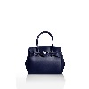 SAVE MY BAG Miss Navy Metallic Handbag