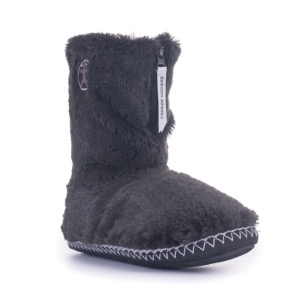Bedroom Athletics Marilyn Faux Fur Bootie Charcoal
