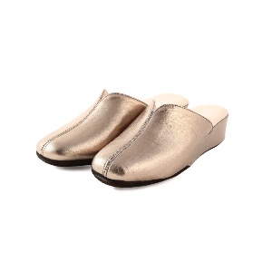 CRB Italian Leather Slippers Pewter