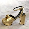 ROTTA Lucy Gold Leather Platform Sandal