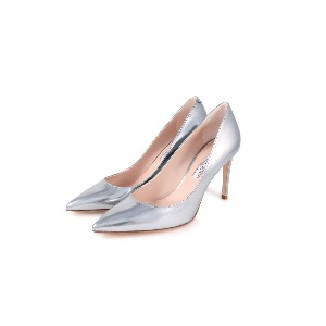 Rotta Silver Leather Court Shoes
