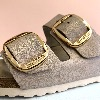 BIRKENSTOCK Arizona Big Buckle Metallic Rose Gold