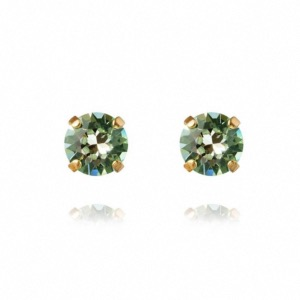CAROLINE SVEDBOM Classic Stud Earrings Chrysolite