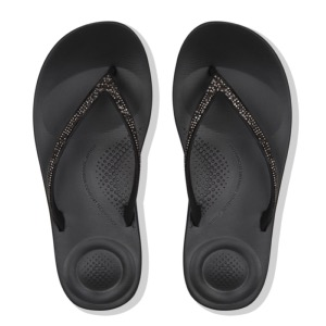 FITFLOP Iqushion Flip-Flop Sparkle Black