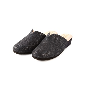 CRB Italian Leather Slippers Navy