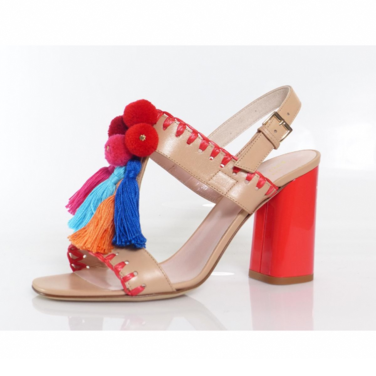 d5acb84c9cfa Kate Spade Central Sandal. Chosen for you. This sandal is a riot of fun. It  has everything you can throw at it