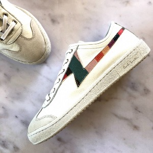 PAUL SMITH White Stripe Ziggy Trainers