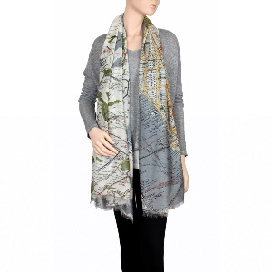 ONE HUNDRED STARS Scarf New York Grey