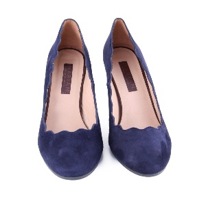 Marian Navy Suede Court Shoe