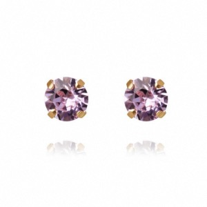 CAROLINE SVEDBOM Classic Stud Earrings Violet