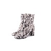 Marian White Snakeskin Print Leather Boots