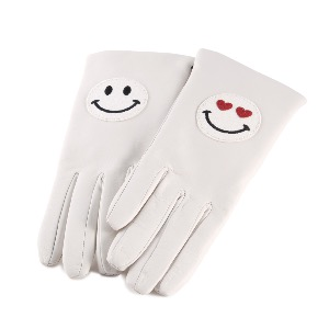 Leather Gloves Winter White