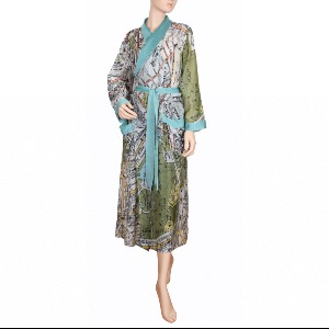 One Hundred Stars London Street Map Robe
