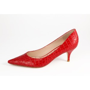 Lucy Choi Red Kitten Heel Ruby