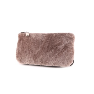 Italian Leather and Shearling Baguette Bag