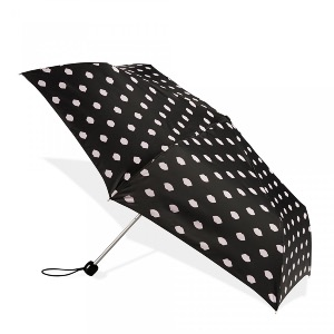 Lulu Guinness Umbrella Lips Print Black
